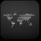 World map. Live wallpaper.