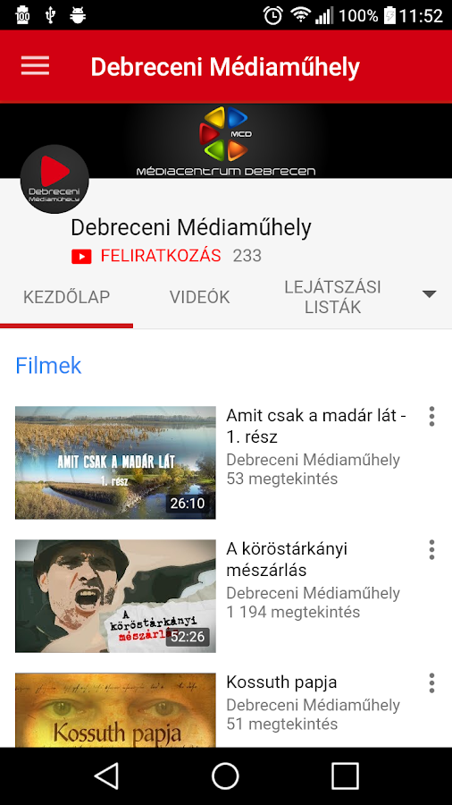 Médiacentrum Debrecen- screenshot