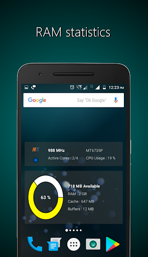 Widgets - CPU | RAM | Battery  screenshots 2
