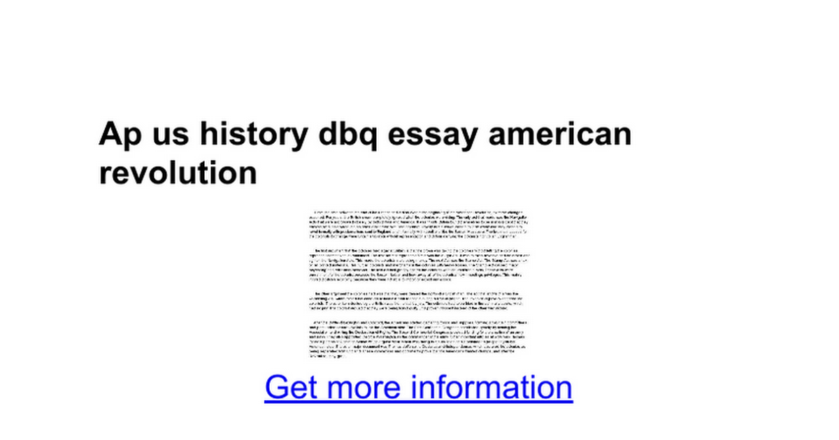 Management Essay Writing Ap Us History Dbq Essay American Revolution Google Docs Personal Narrative Essay Examples also Books Essay Writing Essay On American Revolution Ap Us History Dbq Essay American  Compare And Contrast Essay Samples For College