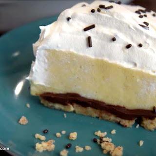 Chocolate Layered Vanilla Pudding Pie