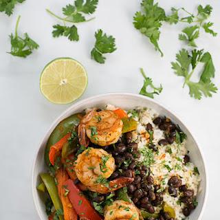 Chipotle-Inspired Shrimp and Black Bean Fajita Saute