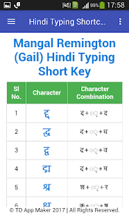 Hindi Typing Shortcut Key - náhled