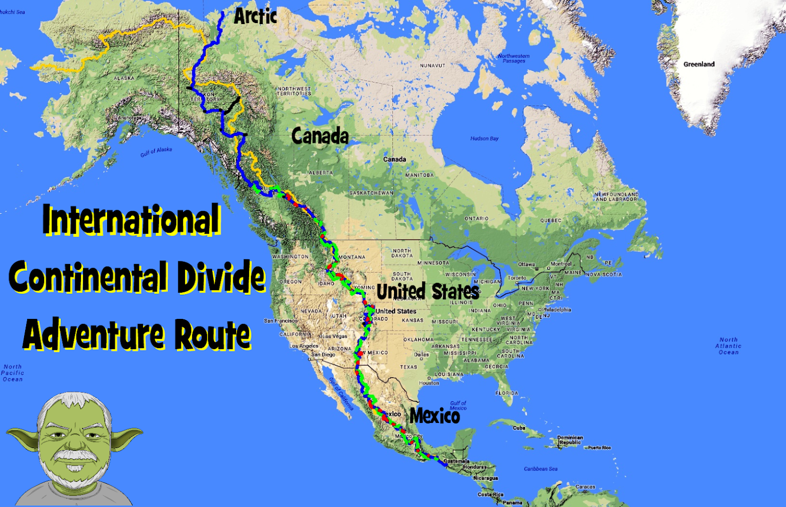 Continental Divide On Us Map.International Continental Divide G310gs Gpskevin Adventure Rides