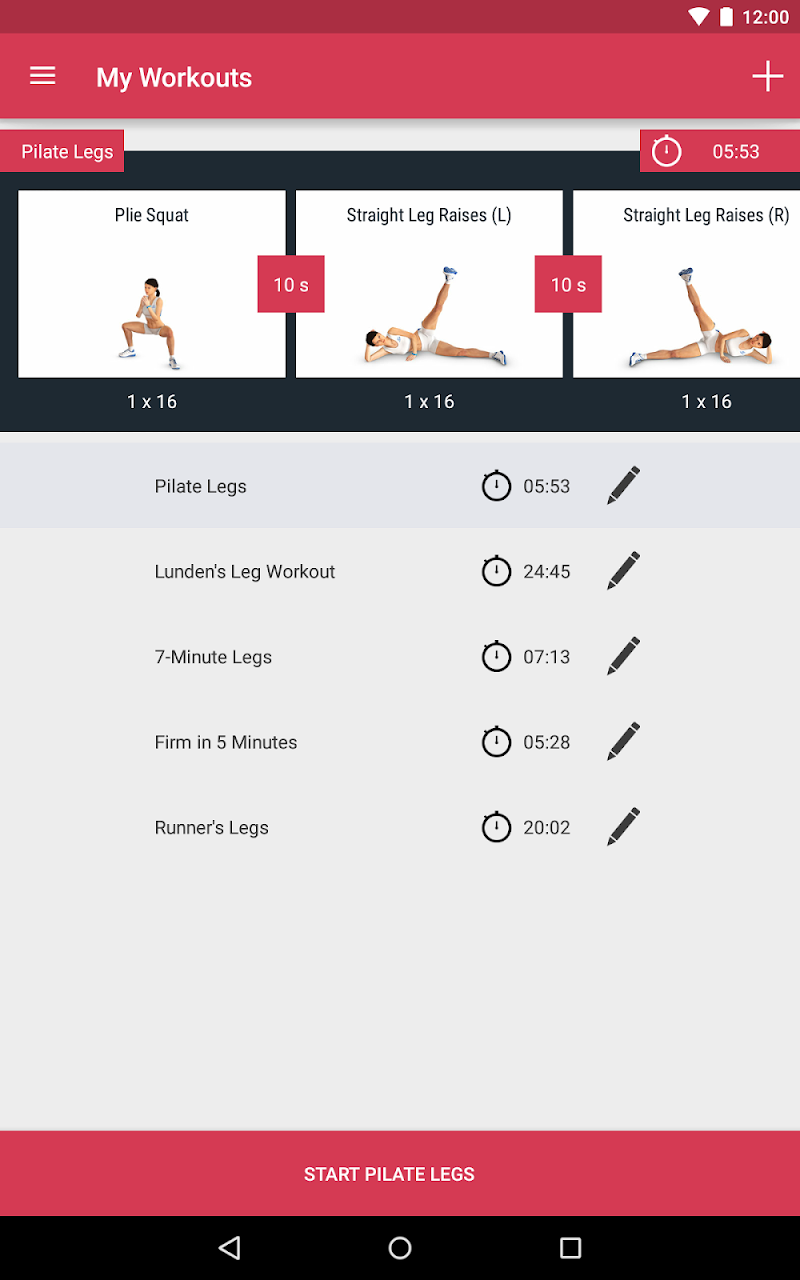 Runtastic Leg Trainer - Workouts & Exercises Screenshot 16