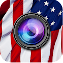 American Flag Picture Filter