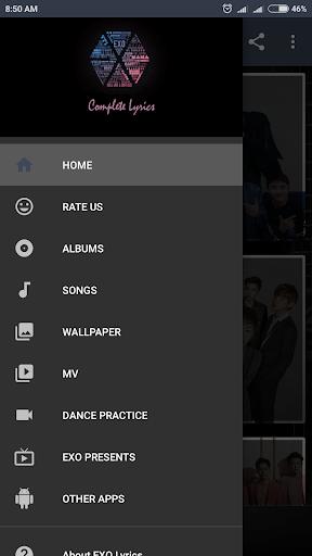 EXO Lyrics (Offline) 4.3 screenshots 1