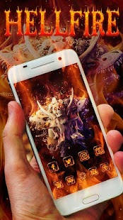 Skull Theme: Skeleton Hellfire wallpaper HD- screenshot thumbnail