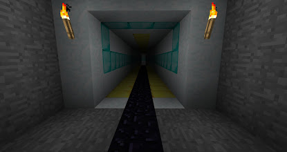 Photo: Although it's obvious that an exit exists at this resolution, the normal window size makes seeing the end of the tunnel rather difficult.  Just before the end, there's a pit that drops off.