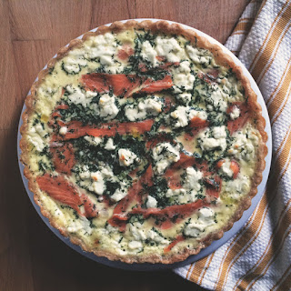 Smoked Salmon Quiche with a Cricket Crust.