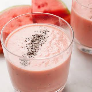 Creamy Watermelon Honey Smoothie.