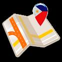 Map of Philippines offline icon