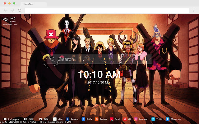 One Piece New Tab Page HD Wallpapers