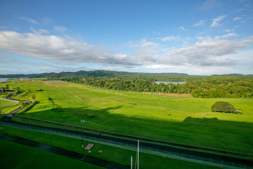 side-view-second-lock.jpg - A side view of Panama's countryside seen from the starboard side of Norwegian Jade.