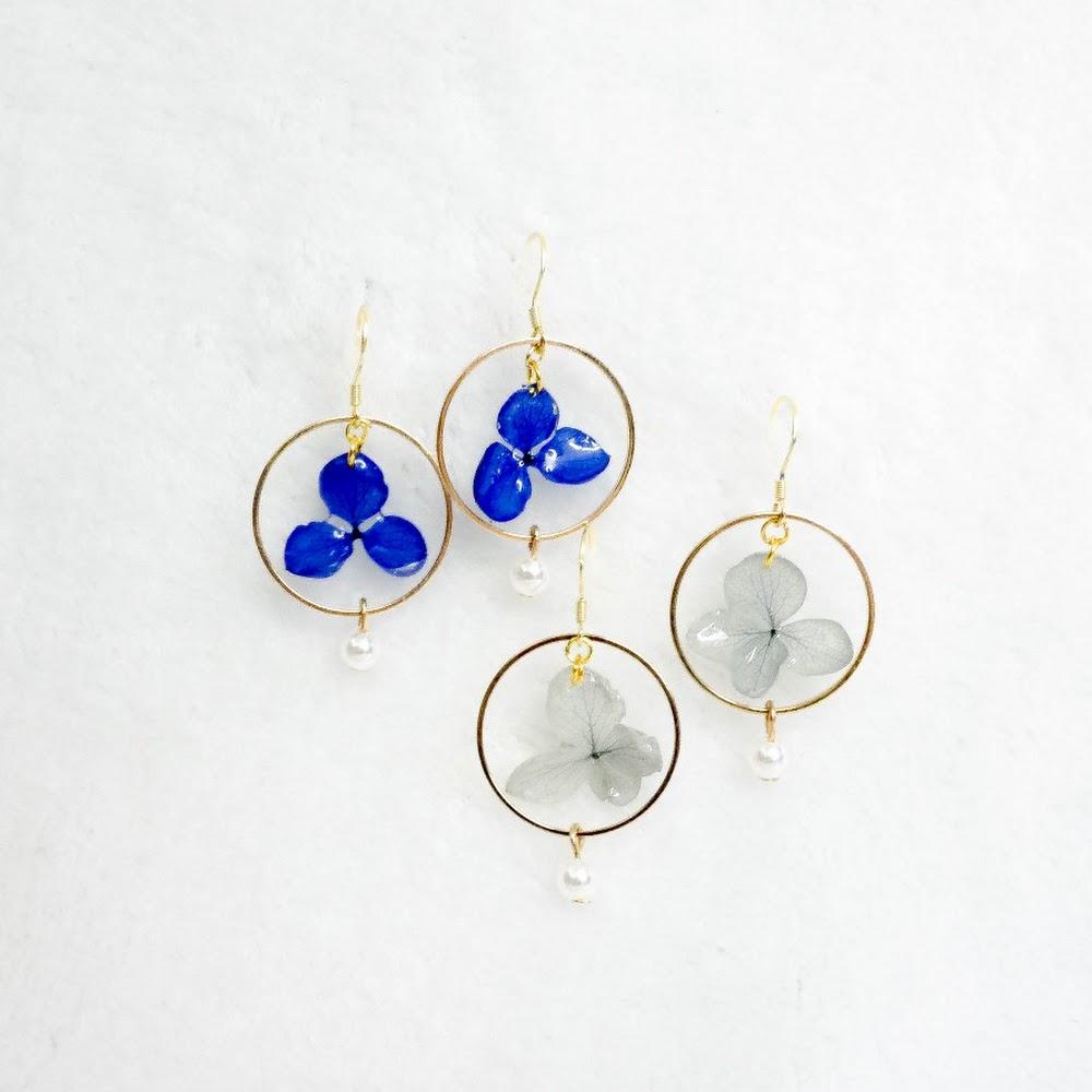 [現貨/stock] 尖沙咀寄賣中 珍珠款 925純銀繡球花耳環 925 Sterling Silver Hydrangea Earrings