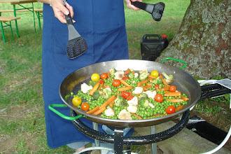 Photo: Légumes pour les végétariens / Gemüse-Pfanne für die Vegetarier