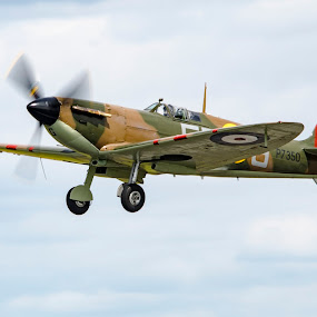 We Will Never Surrender by Brian Rogers - Transportation Airplanes ( aeroplanes, spitfire, transport, aircraft, military )