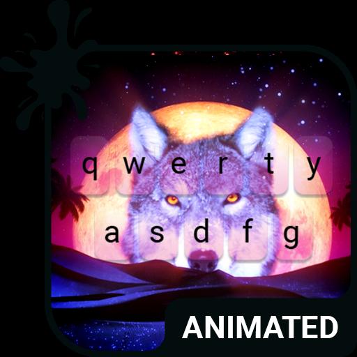 Desert Wolf Animated Keyboard