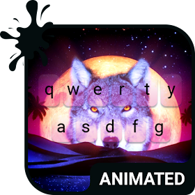 Desert Wolf Animated Keyboard Live Wallpaper Android Applications Appagg