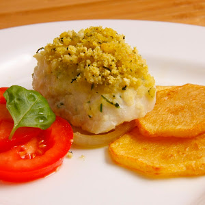 Hake Medallions With Corn Bread