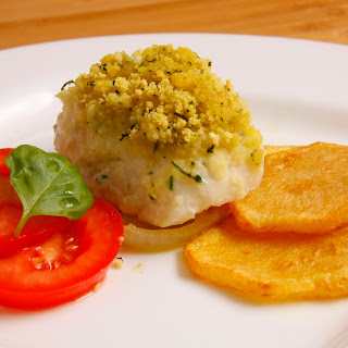 Hake Medallions With Corn Bread.