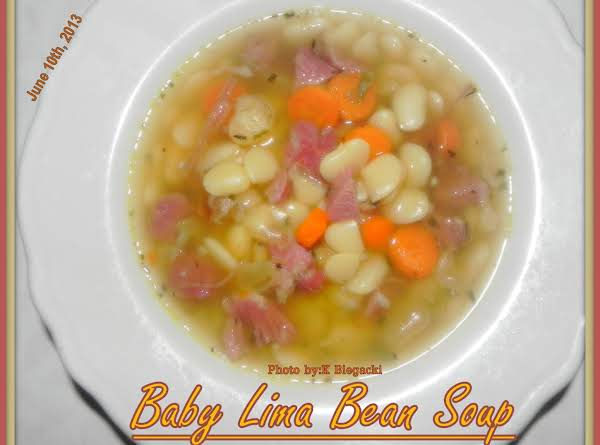 Baby Lima Bean Soup Recipe