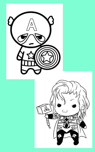Coloring Kids Avengers