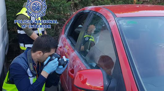 Detenidos por robo con fuerza en vehículos estacionados en la capital