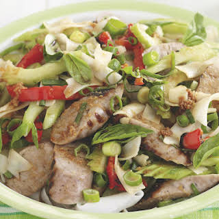 Sausage and Rice Noodle Salad.