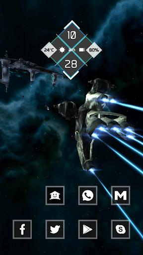 Intense black spaceship