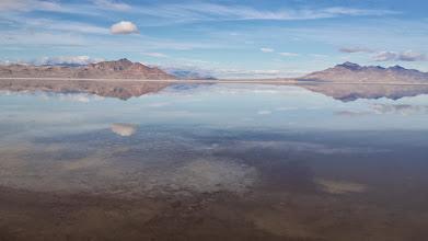 Photo: Salt lake reflections