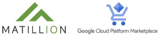 Matillion and <br> GCP Marketplace logo
