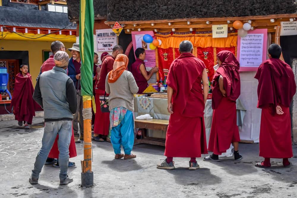 monks+key+monastery+lahual+Spiti+india