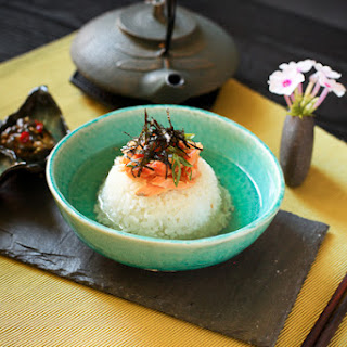 Sake Ochazuke (Salmon Rice Porridge).