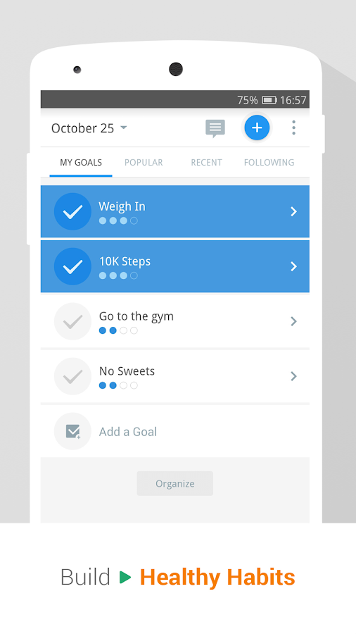Screenshots of Pedometer & Weight Loss Coach for iPhone