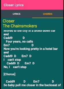 Closer Lyrics - náhled
