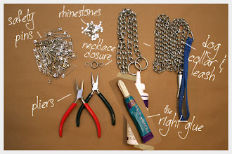 Photo: Supplies to make your Triple Chain Statement Necklace DIY http://www.trinketsinbloom.com/wearable-diy/triple-chain-statement-necklace-diy/