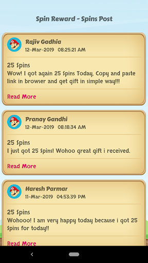 Spins Rewards - Updated Posts 1.0.1 screenshots 2