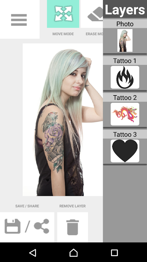 Tattoo my Photo 2.0- screenshot