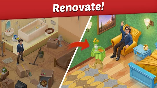 Family Hotel: Renovation & love storymatch-3 game Apk Download For Android 3