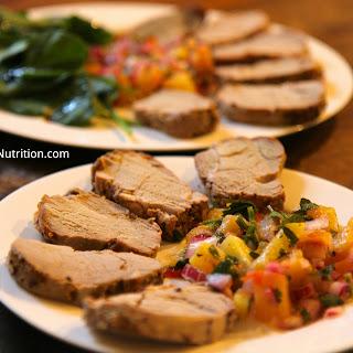Roasted Pork Tenderloin with Pineapple Salsa.