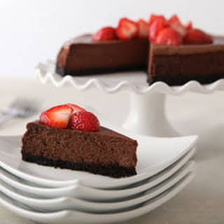 Our Best Chocolate Cheesecake.