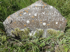 Photo: Combination of mid-morning sun and talcum powder enhance the inscription legibility