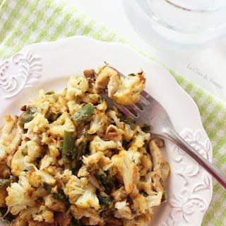 Cauliflower, Asparagus & Mushroom Au Gratin