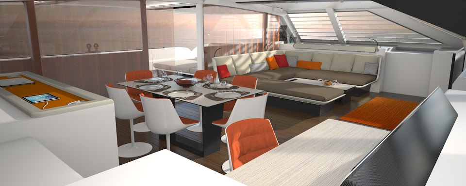 Liberty 82 catamaran interior design