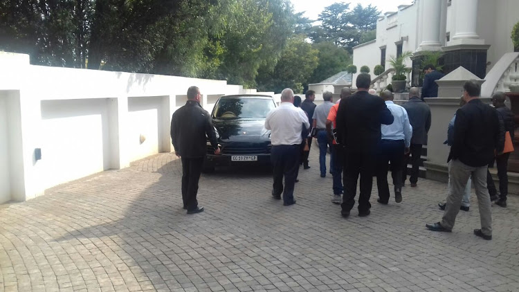 Government enforcement agencies were at the Gupta compound in Saxonwold on 16 April 2018 to seize vehicles belonging to the family.