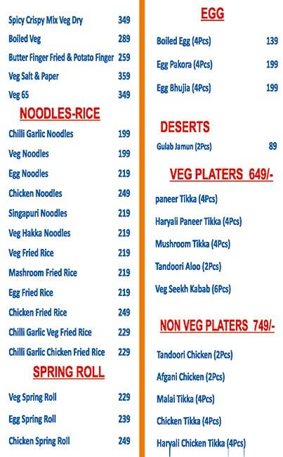 Raj 31 Delhi Foods Corner menu 6