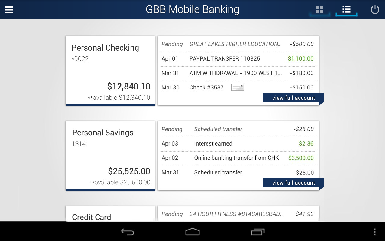 GBB Mobile Banking- screenshot