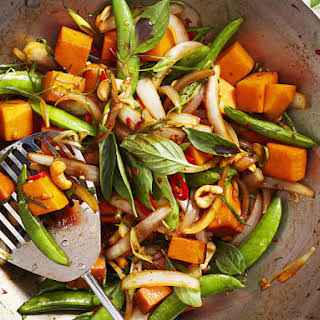 Pumpkin and Chili Stir Fry with Thai Basil.