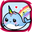 how to draw narwhal unicorn